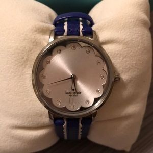 Kate Spade uniquely cute watch!  Blue and white